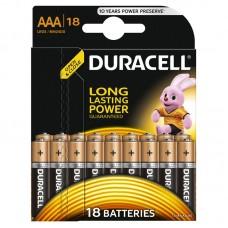 Батарейки мизинчиковые duracell 18 шт