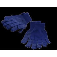 Перчатки нейлоновые синие.