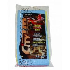 Набор салфеток из микрофибры 30х30см   5шт  CityUP  CA121