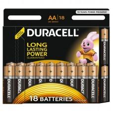 Батарейки пальчиковые  DURACELL 18 шт