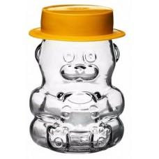 Стеклобанка для мёда  0,295 л  Мишка + Шляпка