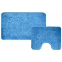Набор ковриков для ванной и туалета  78*49/49*49 см   2шт (Польш