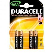 Батарейки мизинчиковые  DURACELL  4шт