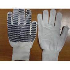 Перчатки нейлоновые с ПВХ