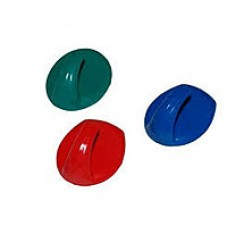 Крючки на липучках цветные  30шт