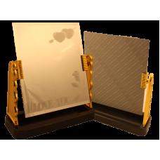 Зеркало I LOVE YOU золото