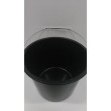 Ведро пластиковое  черное  14 лит     2241  ( Польша )
