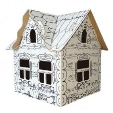 Домик - раскраска из картона  1шт 32,5х26,5х36,5 см ( Польша )