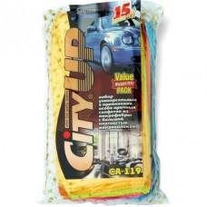 Набор салфеток из микрофибры 30х30см  15шт  CityUP  CA119