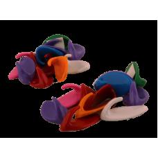 Крючки на липучке цветные 50шт
